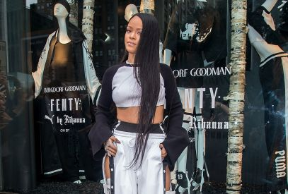 NEW YORK, NY - SEPTEMBER 06: Singer Rihanna attends the Launch of FENTY PUMA By Rihanna at Bergdorf Goodman on September 6, 2016 in New York City. (Photo by Gilbert Carrasquillo/GC Images)